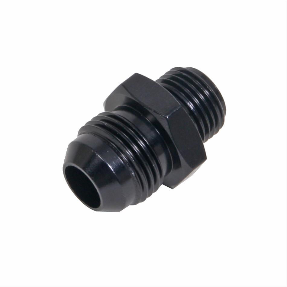 Fragola 491946-BL Black Carb Adapter Fitting#8 x 3//4-16 ORB Short